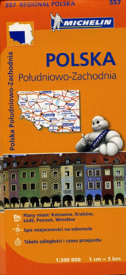 Poland South West - Michelin Map 557